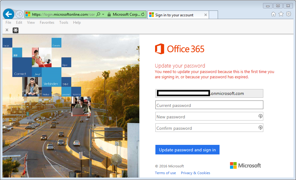 Unable To Update Office 365 Password Jason Pearce