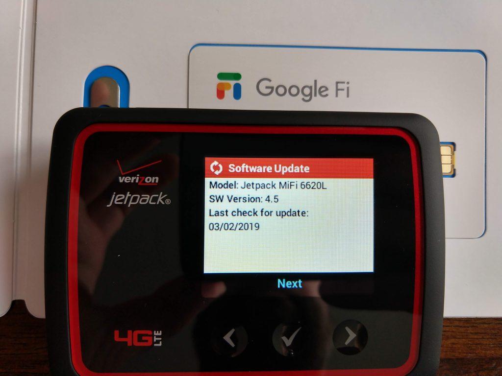 How to use Google Fi data SIM on a Verizon Jetpack MiFi